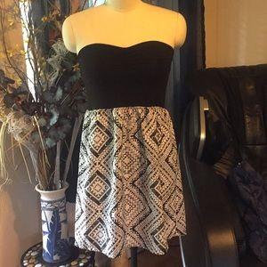 ROXY summer casual strapless dress size Large